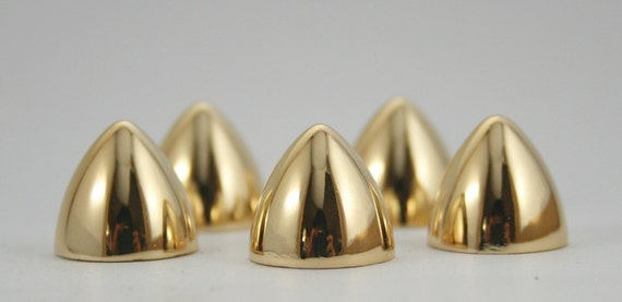 5 sets.Gold Conical Spikes Screw back Cone Studs Leather Craft Decorations Findings 13x12 mm. BS G 0754 SCB 107