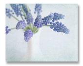Purple Flower Home Decor, Purple Hyacinth Print, Vase of Purple Flowers, Cottage Chic Decor, Bedroom Decor, Purple Flowers in Vase 8x10