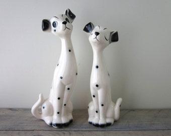 Vintage Dalmatian Dog Figurines Set of Two