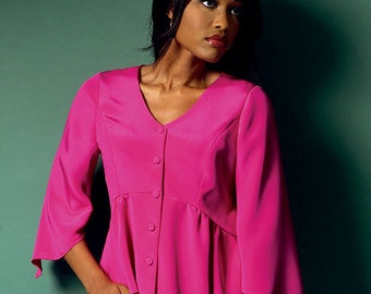 B5967 - Misses' / Women's Top Pattern ~ Connie Crawford Design for Butterick ~  Multi-Size Sewing Pattern