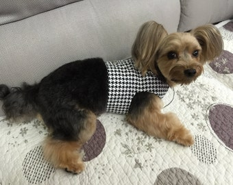 Houndstooth  Dog Harness Custom Made