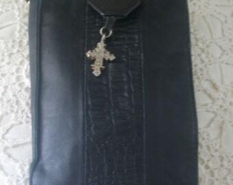 Handcrafted Leather Travel Jog Document Glasses Cross Shoulder Purse from Barcelona