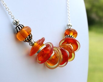 Her Orange Necklace