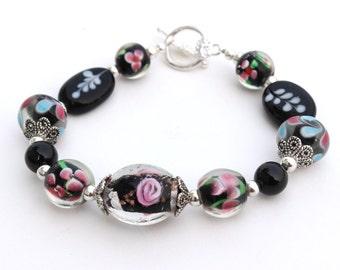 Black Bracelet for Her