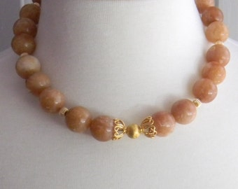 Brandy Opal Necklace October Birthstone Gemstone beaded necklace Opal Necklace Chunky Gemstone Necklace Womens Fashion Jewelry