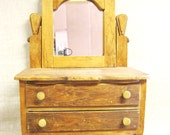 Primitive Toy Dresser , Folk Art Furniture , Antique Furniture , Folk Art Toy , Rustic , Child Size , Doll Dresser , Wood Folk Art , Bureau