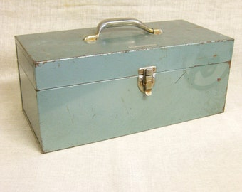 Metal Tool Box , Tackle Box , Instrument Box , Industrial , Metal Box , Storage , Organization , Carrying Box , Industrial Chic , Metal