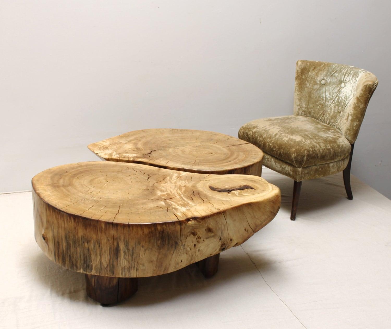 Koa Root Coffee Table: Stump Root Coffee Table