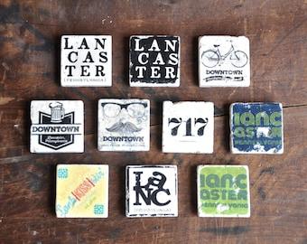"Lancaster Tile Magnet, 2""x2"" (Choose your style)"