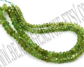 Emerald Faceted Roundel (Quality D) / 3 to 8 mm / 12 to 14 Grms / 37 cm / EM-030