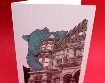 Haight Bear greeting card