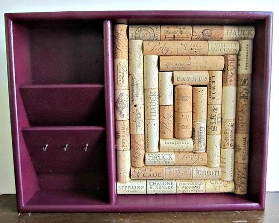 tableau en li ge trieur courrier de vin porte cl mousqueton. Black Bedroom Furniture Sets. Home Design Ideas