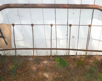 Choose Pick One___Antique Iron Headboard For Repurpose, Garden Gate, Trellis or Bench