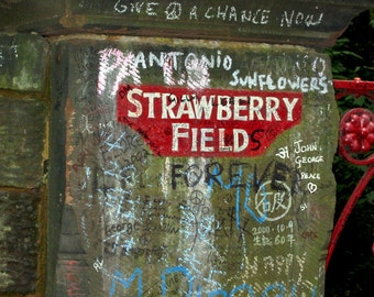 The Beattle's Strawberry Fields Sign  image