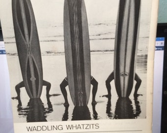 Manhattan Beach near Los Angeles California circa 1962. Magazine pront copy 13 1/2 x 10 1/2.