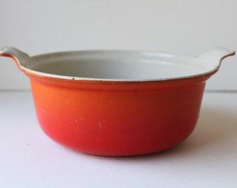 Reduced; Le Creuset Orange Casserole, 1.5 Qt, Serving Dish, France, Enamel, Cast Iron