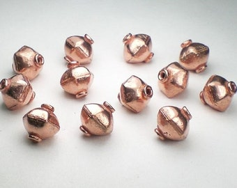10mm Genuine Copper Beads Lantern Copper Beads 12 pcs. GC-314