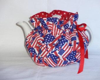 2 Cup Patriotic Reversbile Teapot Cozy