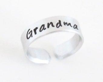 Gift for new Grandma - Grandma gift - Mothers day gift for grandmother - handmade Grandma ring - Grandma birthday gift