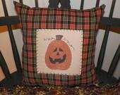 UNSTUFFED Fall Pillow Halloween Primitive Pumpkin Decoration Autumn Harvest Painted Handmade Country Home Decor Seasonal Prim wvluckygirl