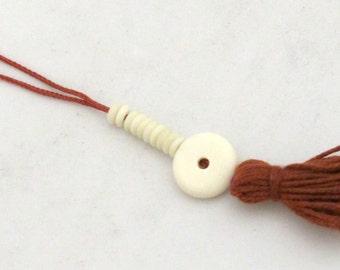 1 mala counter - Tibetan bone beads ivory white color mala counter beads  - NB133C