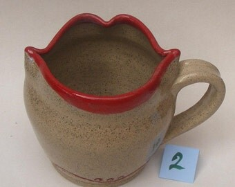 Lip Mug No. 2 Stoneware Mug Mouth Mug, Gorgeous Christmas Gift