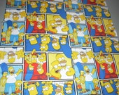 The Simpsons -  Cotton Fabric  - 14.5 inches wide and sold by the yard