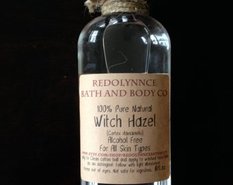 TOP SELLER!!!! All Natural Pure Witch Hazel 100% Alcohol Free Astringent 8oz GMO free