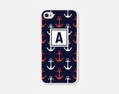 Anchor Phone Case Monogram Phone Case Anchor Samsung Galaxy S5 Case Anchor iPhone 6 Case Anchor iPhone 5s Case Anchor iPhone 5 Case