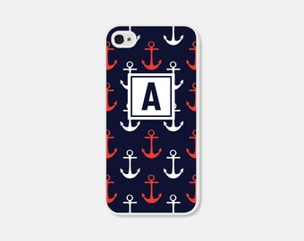 Nautical Phone Case Monogram Phone Case Anchor Samsung Galaxy S7 Case Anchor iPhone 6 Case Anchor iPhone 6s Case Anchor iPhone 5 Case