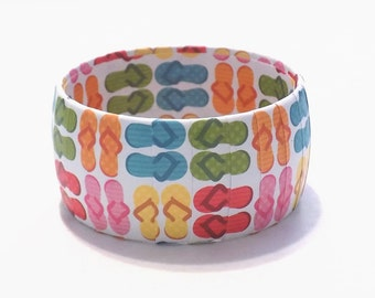 Summer Bracelet - Flip Flop Bracelet - Spring Break Accessories - Summertime Jewelry - Teen Birthday Gifts - Beach Day Jewelry - BFF Jewelry