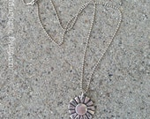 Hello Sunshine Sun Fine Silver Pendant with Sterling Silver Chain