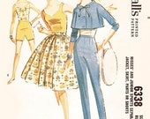 Misses' Cropped Jacket, Tank Blouse, Circle Skirt, Slim Pants or Shorts - SZ 10/Bust 31 - Vintage 1960s Separates Pattern - McCall's 6338