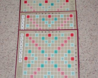 Vintage Collection of Four 4 Scrabble Game Boards