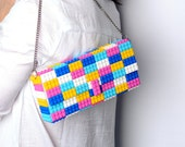 Candy multicolor clutch on a chain - bulk version FREE SHIPPPING