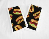 Hamburger Burp Cloths - Set of 2