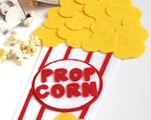 Photo Booth Props - On a Stick - Carnival Party - Popcorn Container - Wedding Photo Props - Party Favor - Circus