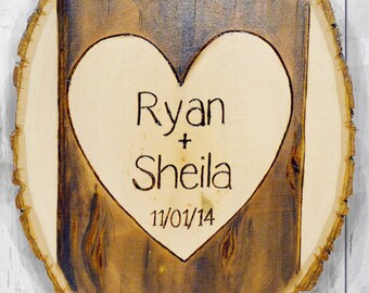 Heart on Tree Plaque Husband Boyfriend Gift