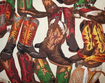 COWBOY BOOT FABRIC! Western Cowboy Boots allover