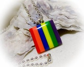 Rainbow Bowlerite Pendant Necklace Small Petite