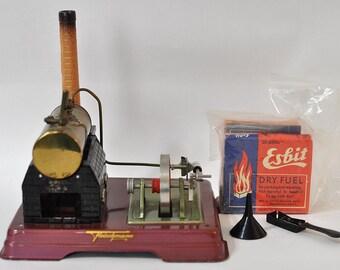 Fleischmann Steam Engine - complete and working - 1960's collectible German toy