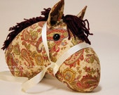Stick Horse Head, Antique Paisley, MADE to ORDER, With or Without Stick