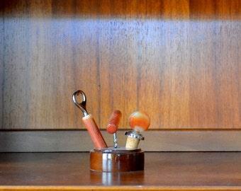 vintage mid-century bar tool set