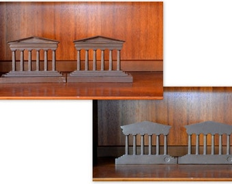 vintage 1920s bradley and hubbard cast bronze parthenon bookends