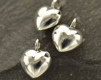 Puffed Heart Tiny Sterling Silver - C395