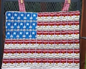 Wall Decor, Wall Hanging, American Flag, Soup, patriotic, fun, reversible