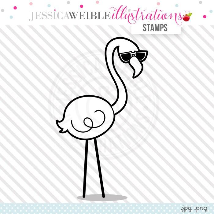 lawn flamingo outline - photo #47