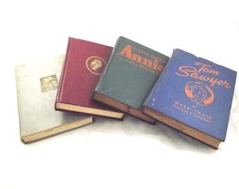 Vintage Children's Books, Set of 4 Hardcover Classics (DB4)