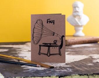 Gramophone  Card