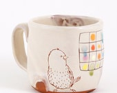 Birds and Color grid cup